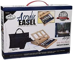 Royal and Langnickel REA4901 - Juego de pintura acrílica con caballete y bolsa