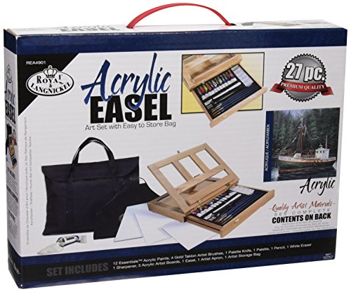 Royal & Langnickel Acrylic Easel Art Set with Easy to Store - Acrylic Easel Deluxe