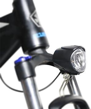 JUNSTAR-EU Faros de Bicicleta eléctrica Ebike Bicicleta eléctrica LED luz Delantera con bocina: Amazon.es: Deportes y aire libre