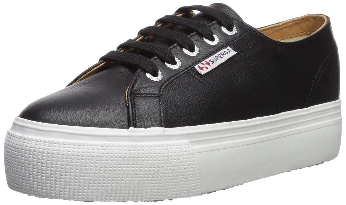 Black White Superga Womens 2790 Nappaleaw Sneaker