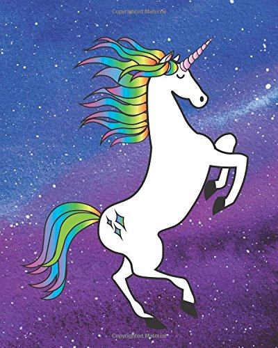 Unicorn Journal: Rainbow Galaxy Unicorn Bullet, Blank Dot Grid Journal, 160 Page Softcover Composition Notebook, 8