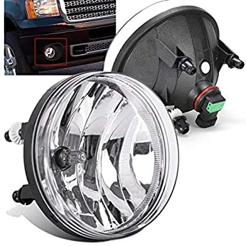 for 2007-2013 GMC Sierra 1500 2500 HD 3500 HD Clear Bumper Fog Lights Lamps PAIR