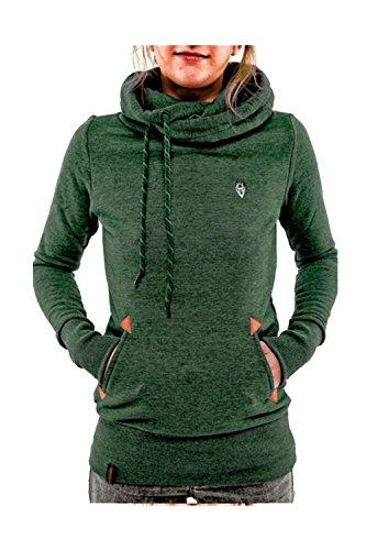 Manteaux Draw Et Casual Femmes Hoody Polar Moonpin Vert Vestes Chain wFqa4UxFn