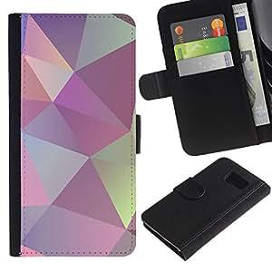 WINCASE ( No Para S6 EDGE ) Cuadro Funda Voltear Cuero Ranura Tarjetas TPU Carcasas Protectora Cover Case Para Samsung Galaxy S6 SM-G920 - textura modela patrón