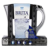 2 PACK Brita Grand Water Filter Pitcher, Black Bubbles, 10 Cups