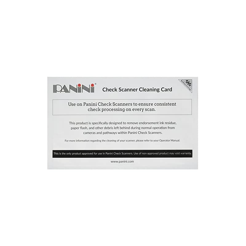 Panini Check Scanner Cleaning Cards feat