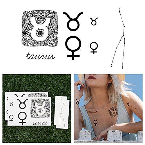tattify-zodiac-sign-temporary-tattoos-taurus-set-of-14-tattoos-2-of-each-style-individual-styles-ava