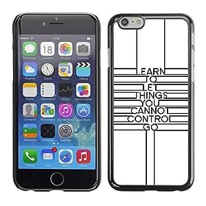 FECELL CITY // Duro Aluminio Pegatina PC Caso decorativo Funda Carcasa de Protección para Apple Iphone 6 // Quote Minimalist Lines Motivational