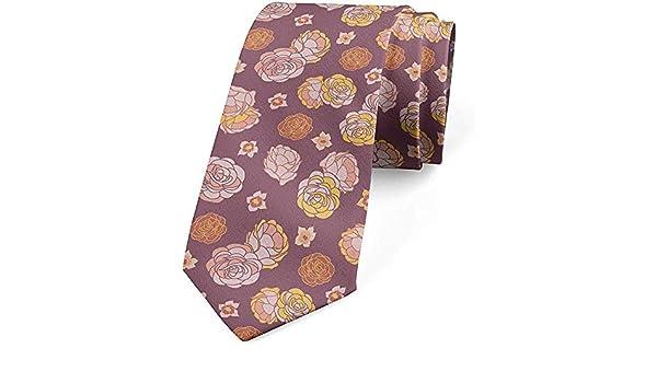 Corbata para hombre, pétalos florecientes en colores pastel, 8 cm ...