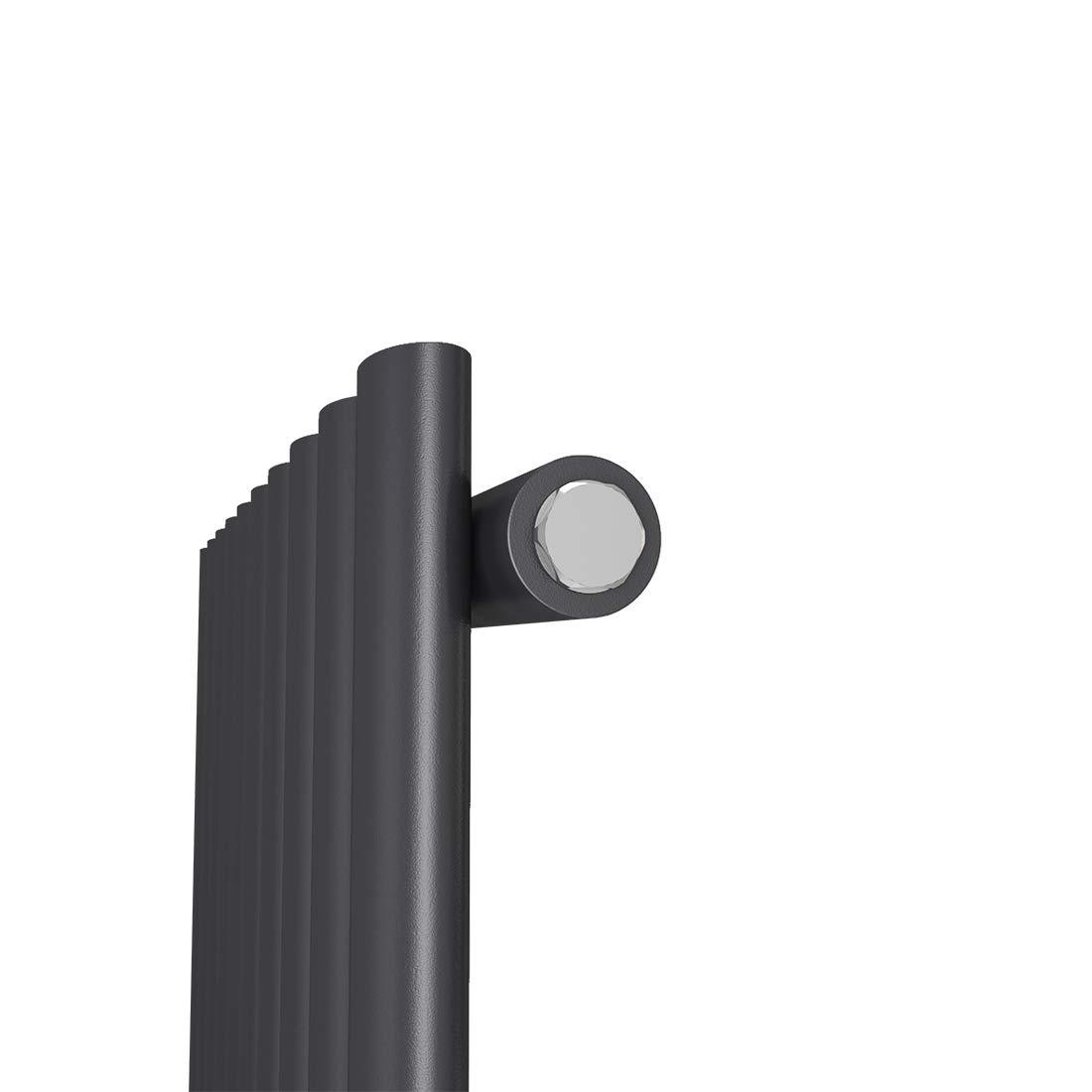 Heizk/örper Design-Heizk/örper Ovale Form Wei/ß Vertikal 1600x480mm Heizung 1629W Mittelanschluss Doppellagig