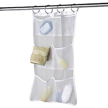 Maytex Mesh Bath Organizer with Pockets, White