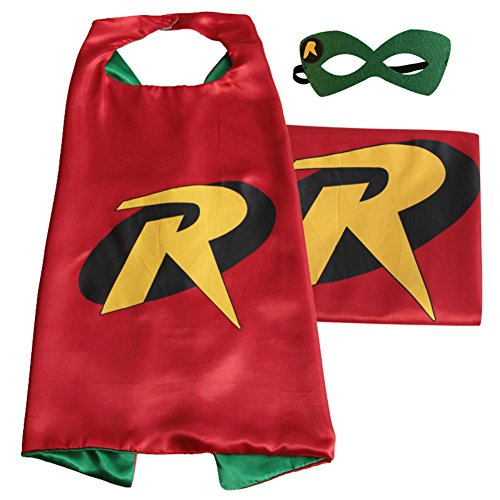 Superhero or Princess CAPE & MASK SET Kids Childrens Halloween Costume (Robin)