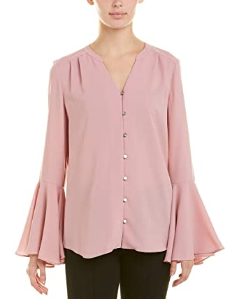 ada66ff50819e Tahari by ASL Women s Bell-Sleeve Georgette Blouse Antique Pink Small
