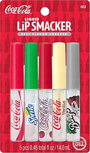 Lip Smacker Coca-Cola Liquid Lip Gloss Party Pack, 5 Count