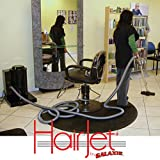 galaxie hairjet salon vacuum with automatic dustpan in gloss black