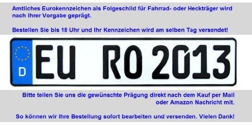 KFZ Kennzeichen für Fahrradträger (EURO-Folgekennzeichen) (520 x 110 mm)