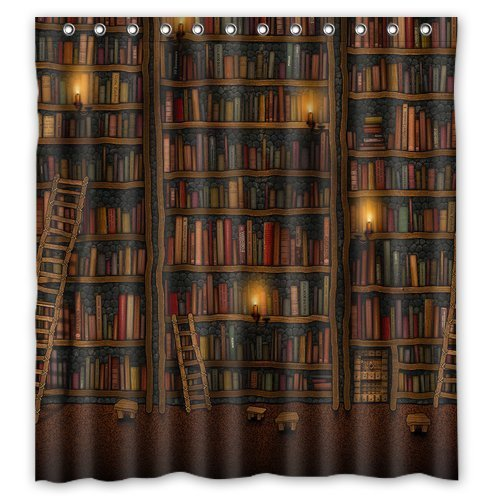 Generic Personalized Old Library Books Bookshelf Series Design Sold By Too Amazing Shower Curtain Bath Decor