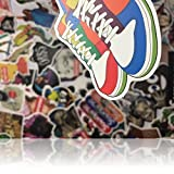"Custom & Decorative {2.4'' to 5"" Inch} 200 Bulk Pack of Jumbo Size Stickers for Arts, Crafts & Scrapbooking w/ Random Vinyl Skateboard Edgy Tone Laptop Luggage Dope Assorted Lot Style {Multicolor}"