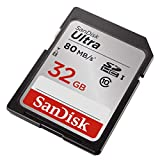 SanDisk 32GB Ultra Class 10 SDHC UHS-I Memory Card Up to 80MB, Grey/Black (SDSDUNC-032G-GN6IN)