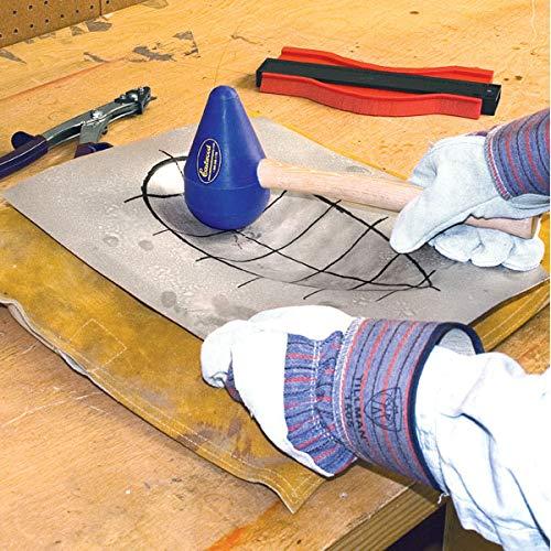 Eastwood 3 Pieces Diameter Teardrop Mallet Set Plastic Metal Forming Tear-Drop Set With Wood Handle