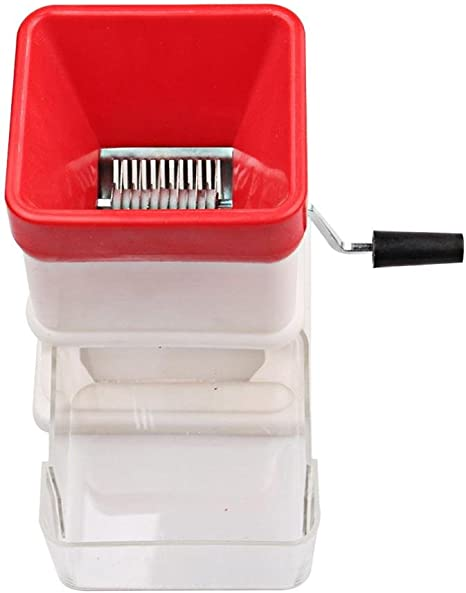 Aolvo Manual Fruit Crusher Mincer Chopper Portable Travel Baby Food Grinder Manual Speedy Rotared Vegetable Fruit Cheese Nut Cutting Cutter Shredder Kitchen Gadget Grinder With Storage Compartment Amazon De Kuche Haushalt