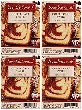 ScentSationals Coffee Cake Swirl Wax Cubes - 4-Pack