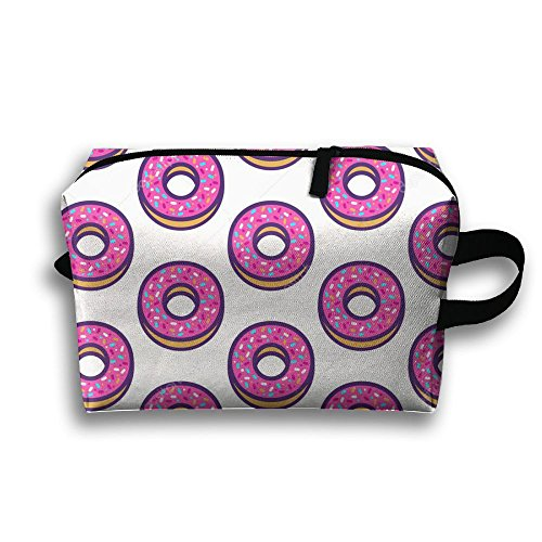 DTW1GjuY Lightweight And Waterproof Multifunction Storage Luggage Bag Cute Donuts by DTW1GjuY (Image #2)
