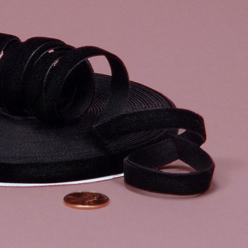 Black Velvet Ribbon, 1'' X 10Yd by Paper Mart