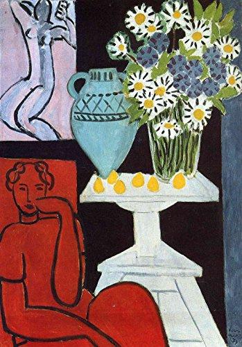 Henri Matisse - The Daisies, Size 16x24 inch, Poster art print wall (Henri Matisse Artwork)