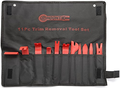 Trim Removal Tool Set - 11 pcs Nylon Pry Tool - Car Stereo Installation Tools - Radio Trim Tool Set - Interior Auto Upholstery Remover Tool - Window Molding Dash Fastener - Door Panel Removal Tool Shoontik