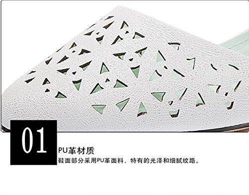 HUAIHAIZ damen plateau pumpsBaotou Sandalen Sandalen Sandalen Damenschuhe Mutter high-heel Schuhe Weiß 348a4b