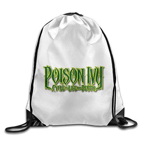 Bekey Poison Ivy Letter Gym Drawstring Backpack Bags - Poison Ivy Messenger Bag