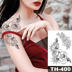5Pc- Autoadesivo Del Tatuaggio Impermeabile Bellissimo Fiore Di ...