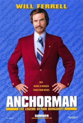 Anchorman: La leyenda de Ron Burgundy (2004) – 11 x 17 – Estilo A