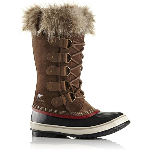 Sorel Joan Van Arctic Faux Fur Dameslaarzen Uk 6.5 Umber Red Dahl