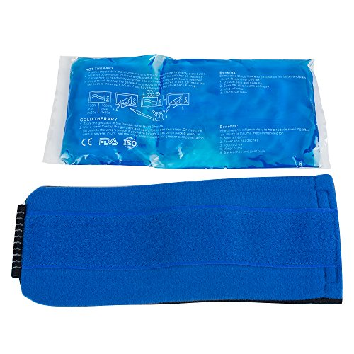 Zinnor Gel Ice Pack Reusable Hot & Cold Therapy Wrap Support Injury Recovery, Joint and Muscle Pain Relief for Knees, Back, Hand, Foot, Wrist, Elbow by Zinnor (Image #5)