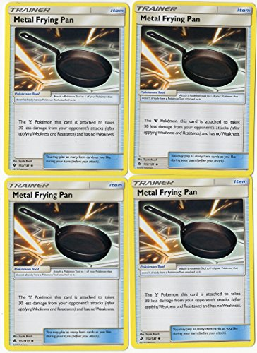 (Metal Frying PAN 112/131 - Sun Moon Forbidden Light - Trainer Card Set - x4 Tool Card Lot (Playset))