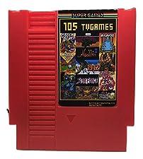 105 in 1 NES Game Cart Video Game Multi Super Games (Red Cartridge)
