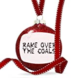 Christmas Decoration Rake Over The Coals Coal Grill Fire Place Ornament