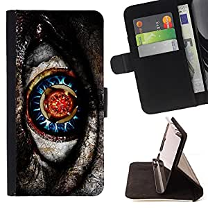 Jordan Colourful Shop - native sci-fi mysterious pattern grey For Apple Iphone 6 - Leather Case Absorci???¡¯???€????€????????
