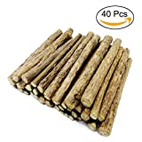 Malier 40 Pieces Cat Catnip Natural Matatabi (Silvervine) Chew Sticks Teeth Grinding Chew Toys for Cat Kitten Kitty