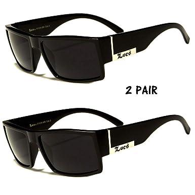 8ea5aecc8b1 Amazon.com  MEN DARK LENS GANGSTER BLACK OG SUNGLASSES LOCS BIKER GLASSES  USA n  Clothing