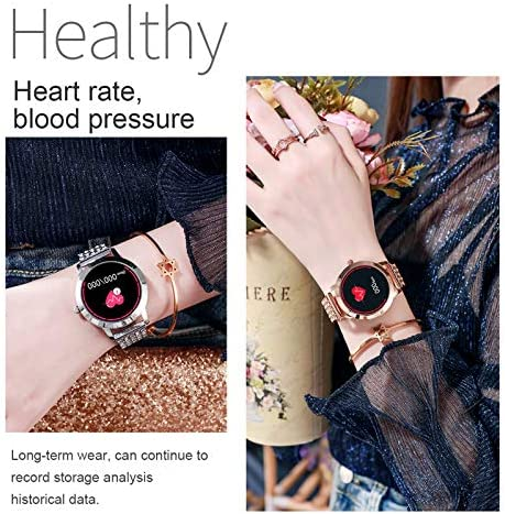 Womens Fitness Tracker Blood Pressure Heart Rate Monitor Activity Tracker Waterproof Pedometer Step Counter Calorie Sleep Monitor Touch Screen Bluetooth Smart Watch for Android iOS 2