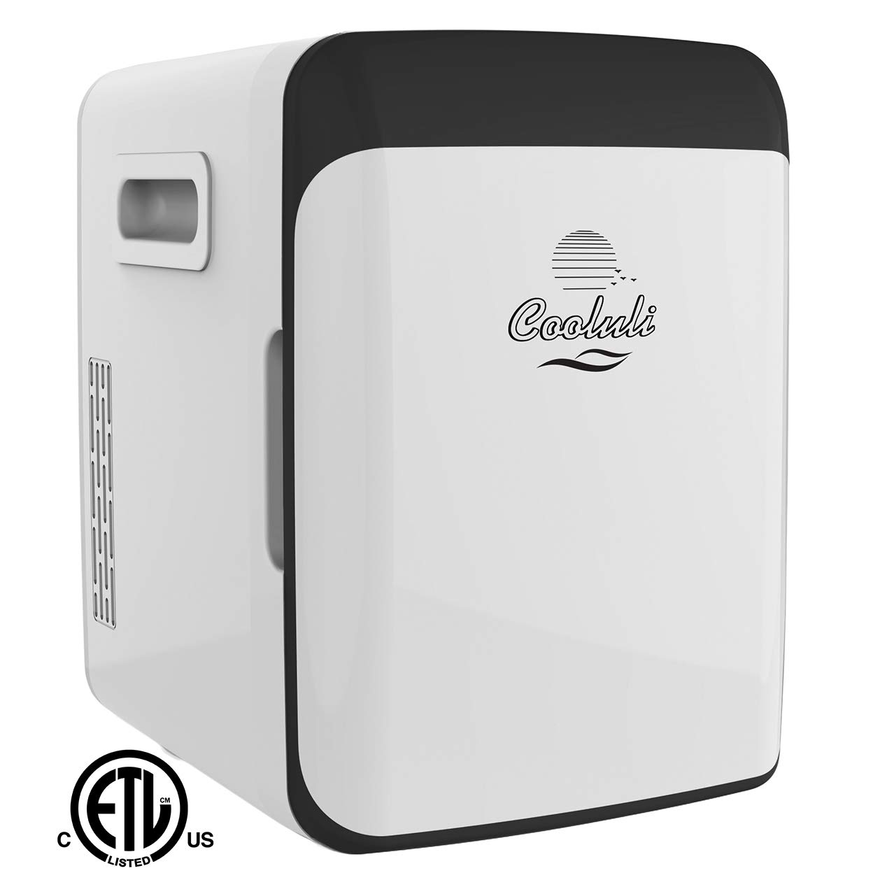 Cooluli Classic Electric Mini Fridge Cooler and Warmer AC/DC Portable Thermoelectric System (White, 15 Liter/18 Cans)