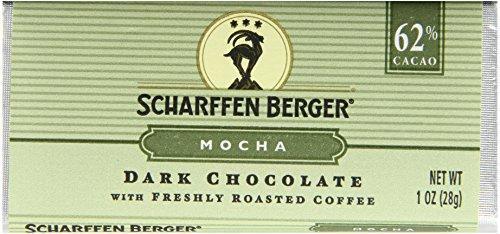 Scharffen Berger Chocolate Bar, Moka (Chocolat foncé avec fraîchement torréfié) (62% Cacao), Bars 1 once (Pack de 9)