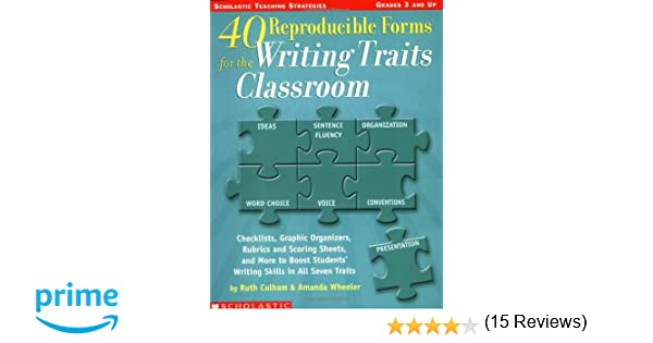 Amazon.com: 40 Reproducible Forms for the Writing Traits Classroom ...