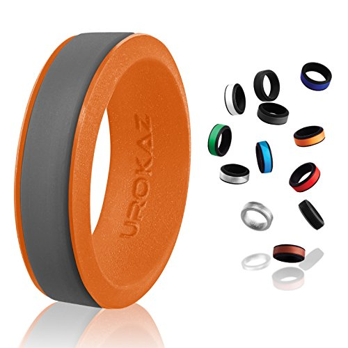 silicon mens rings spinner golf drivers right hand ring metallic silicone wedding band 15.5 work qalo men