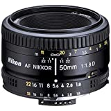 Nikon AF Nikkor 50mm f/1.8D Prime Lens (Black) - International Version (No Warranty)