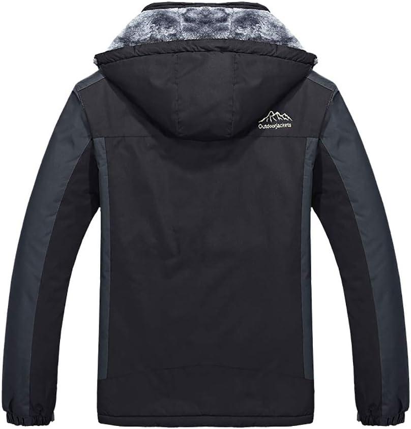 M-9XL Waterproof Jackets Windproof Fleece Coats Men Women Thicken Ski Jackets with Detachable Hood Winter Hoodie Outerwear