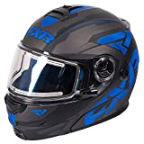 FXR Fuel Modular Elite Helmet W/Electric Shield Polycarbonate Alloy Snowmobile - Black/Blue/Char - X-Large